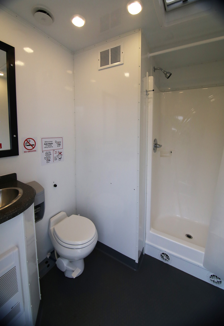 Double Shower Trailer Interior 2